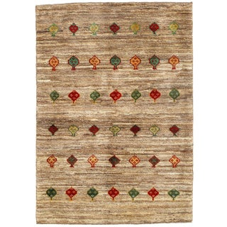"Traditional Pasargad N Y Persian Gabbeh Rug - 3′4″ × 4′8"" For Sale"
