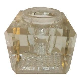 Vintage Mid-Century Crystal Inkwell For Sale