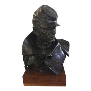 James Edward Fraughton Bronze Union Soilder For Sale