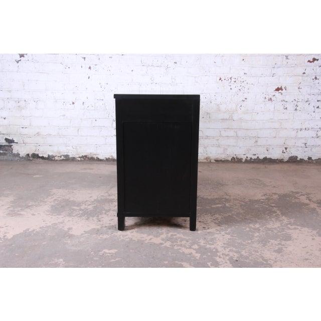 Baker Furniture Hollywood Regency Ebonized Long Dresser For Sale - Image 10 of 13