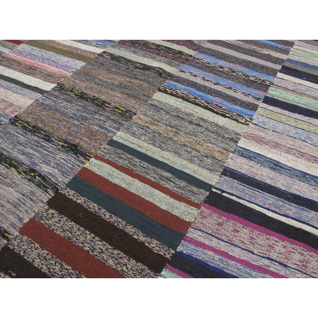 Large Cotton Pala Kilim For Sale In New York - Image 6 of 9