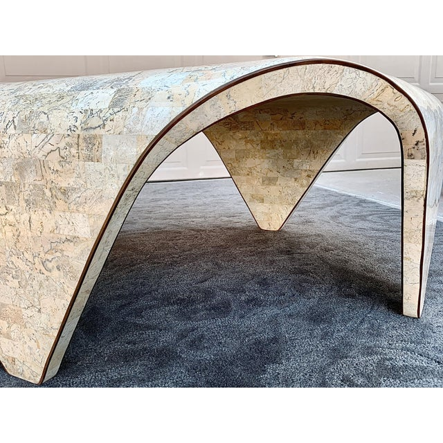 Maitland - Smith 1970s Vintage Sculptured Tesselated Stone Coffee Table by Maitland-Smith For Sale - Image 4 of 9