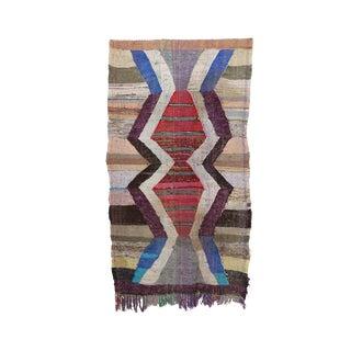"Kilim Boucherouite Moroccan Kilim, 4'9"" X 8'2"" Feet"