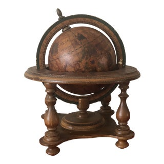 Vintage Italian Wide World Globe For Sale