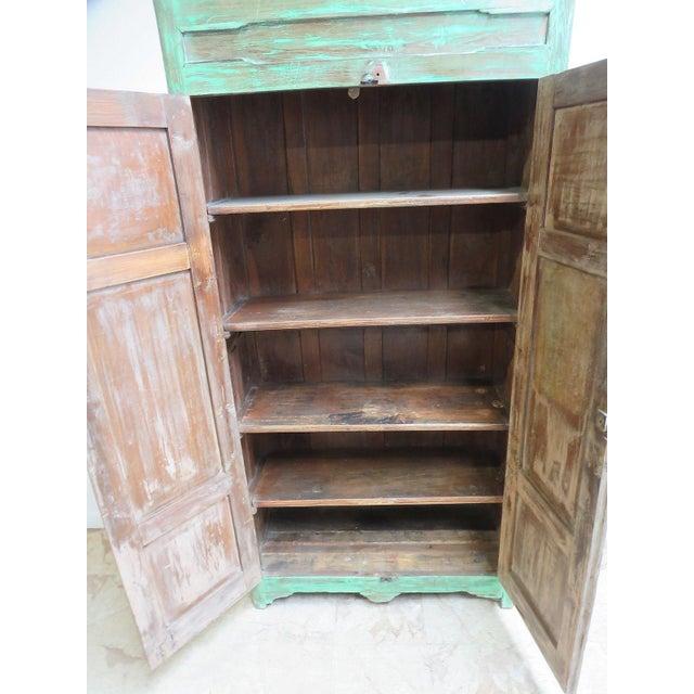 Antique Primitive Wardrobe Cupboard - Image 4 of 6