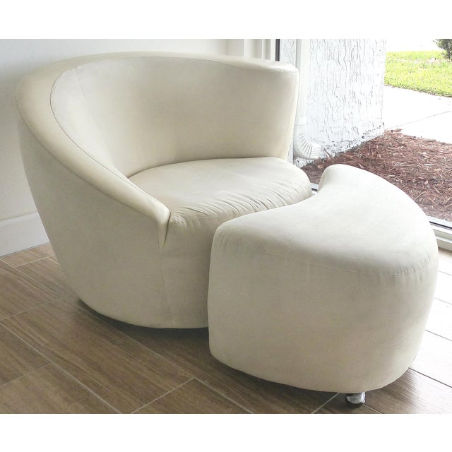 Nautilus Chair & Ottoman by Vladimir Kagan for Directional-Set of 2 For Sale - Image 13 of 13