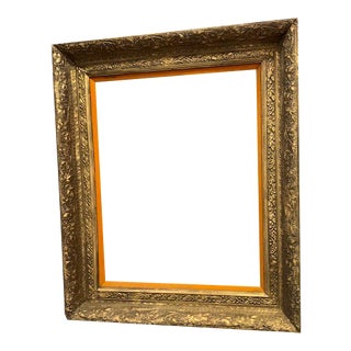 Early 20 Century Antique Gold Gilt Frame For Sale