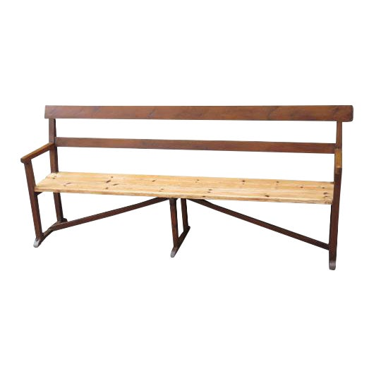 English Pine Long Bench For Sale
