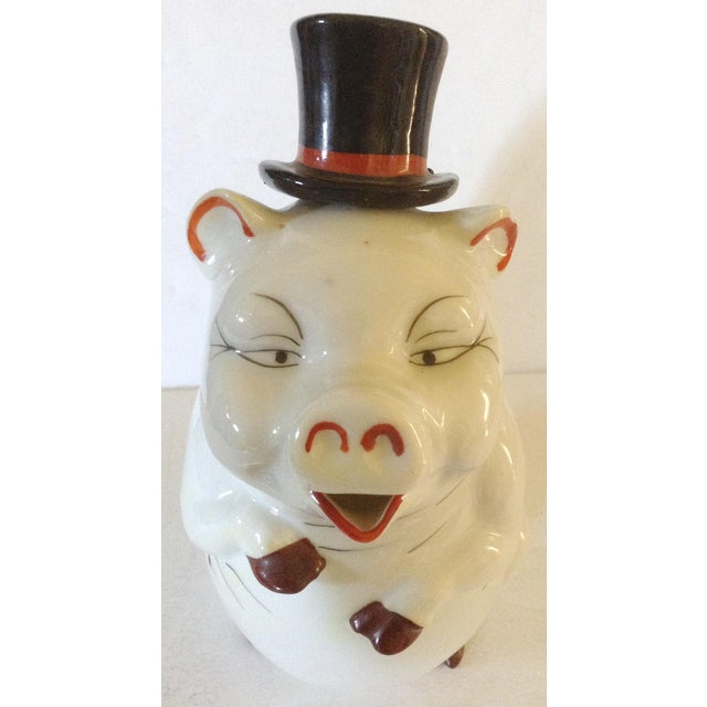 Figurative Pig Decanter For Sale - Image 3 of 6