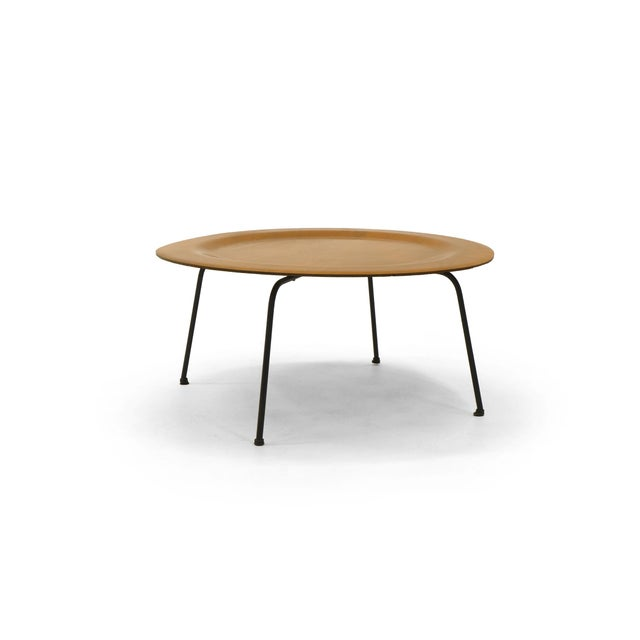 Ash Early Second Generation Eames CTM Coffee Table Metal Legs, Expertly Restored For Sale - Image 7 of 9