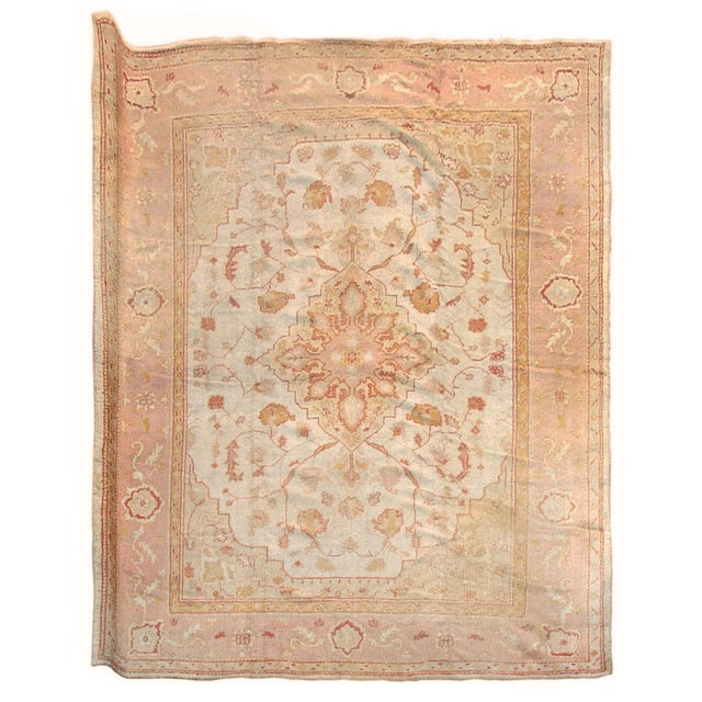 Islamic Oushak Carpet - 12′ × 14′5″ For Sale - Image 3 of 3
