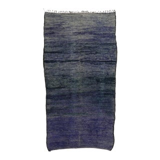 Vintage Berber Purple Moroccan Rug, Inspired by Mark Rothko Chapel - 07'01 X 14'00 For Sale