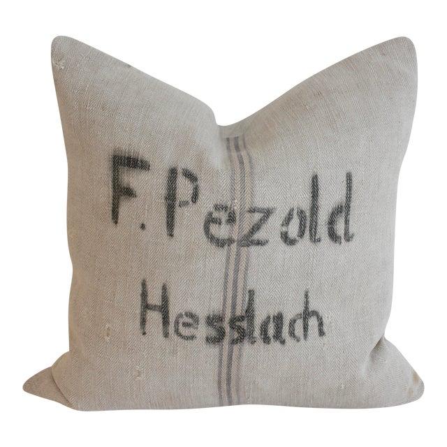 Vintage Grain Sack Pillow - Image 1 of 4