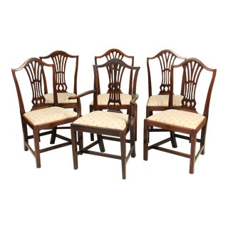 Early 19th Century Antique George III Style Dining Chairs- Set of 6 For Sale
