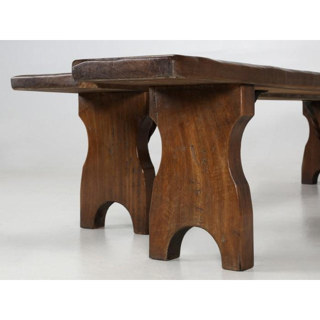 French Farm Table With Matching Benches - 3 Pc. Set For Sale - Image 4 of 13