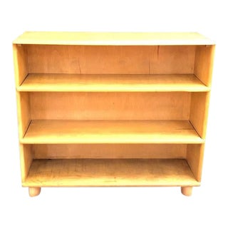 1950s Heywood Wakefield Wheat 3-Shelf Bookcase For Sale