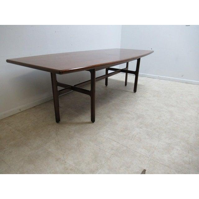 Vintage Danish Modern Walnut Surfboard Dining Table Chairish - Danish modern kitchen table