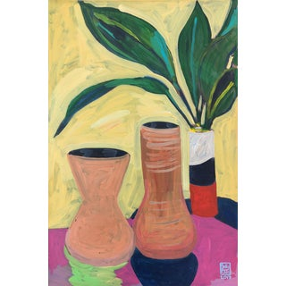 Terracotta Vessels Contemporary Still Life Painting For Sale