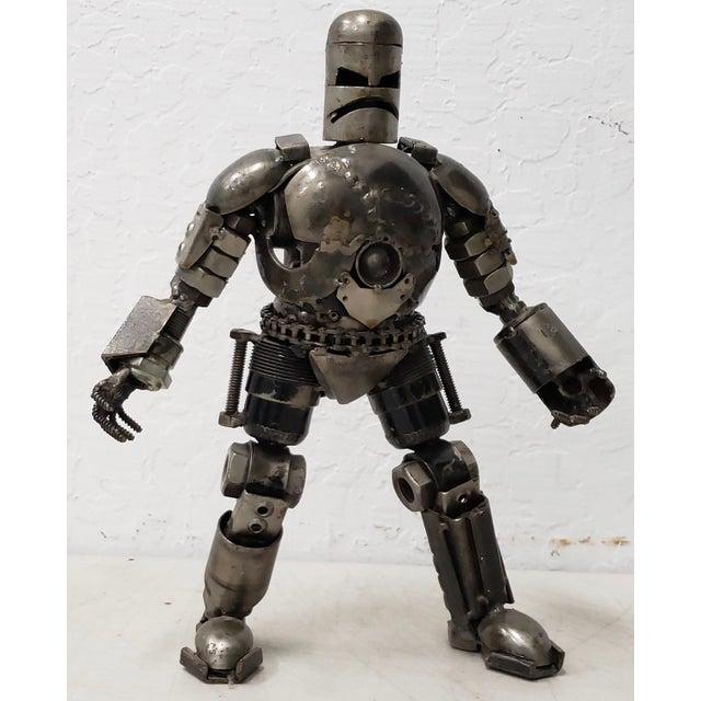 Heavy Gauge Scrap Metal Robot Sculpture For Sale - Image 9 of 9