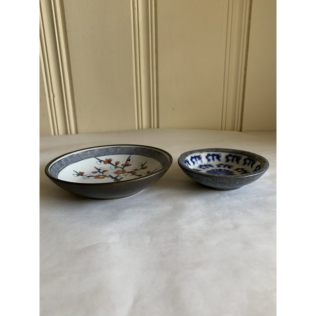 Asian Midcentury Asian Chinoiserie Decor Trays Bowls For Sale - Image 3 of 12