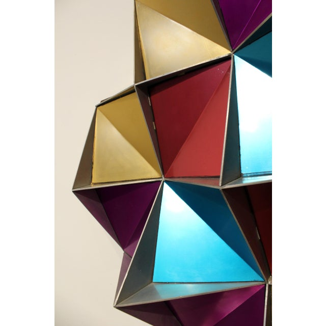 1970's Anodized Aluminum Three Dimensional Geometric Wall Art For Sale In Dallas - Image 6 of 9