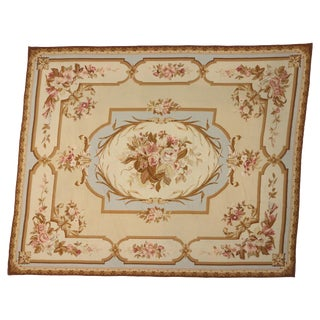 1970s Vintage Needlepoint Rug - 12′4″ × 15′ For Sale