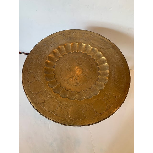 Round Moroccan Tray End Table For Sale - Image 9 of 13