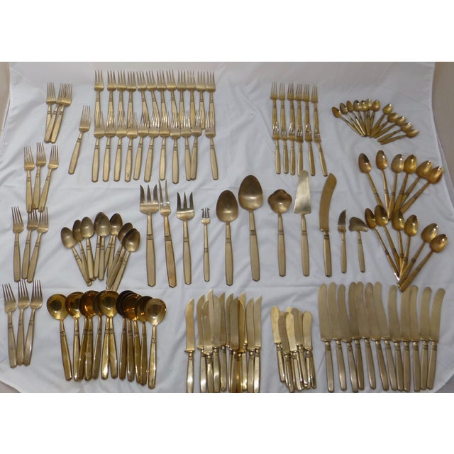Mid-Century Modern Flatware Service for 12 - Image 3 of 11