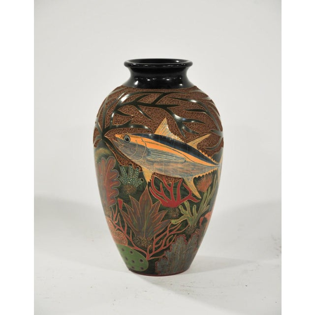 Enmanuel Maldonado Oval Fish Ceramic Vases A Pair Chairish