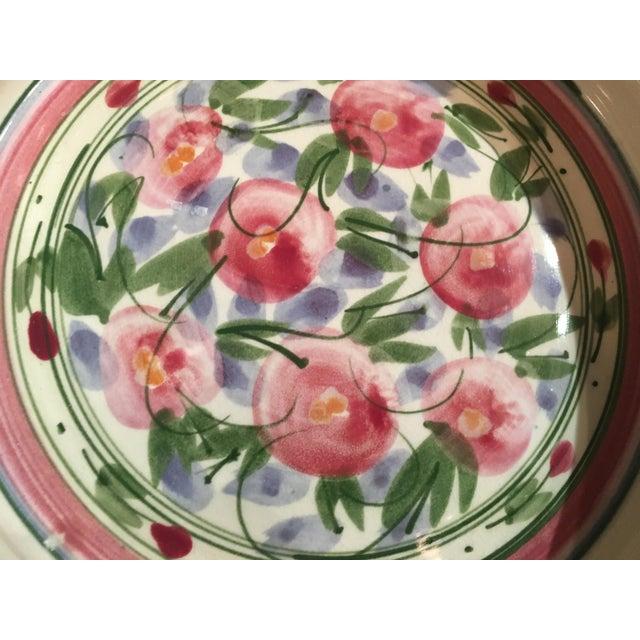 Cottage Signed Vintage Liz Vigoda Art Pottery Bowl For Sale - Image 3 of 7