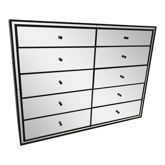 Restoration Hardware Strand 10-Drawer Mirrored Dresser - Image 1 of 6