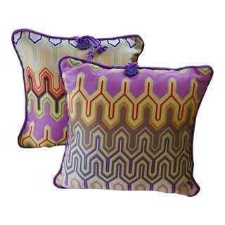 "Contemporary Missoni Design ""Sausalito"" Decorative Accent Pillows - a Pair For Sale"