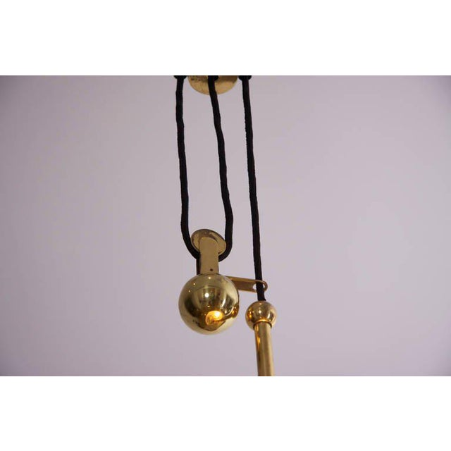 1950s Large 1950s Italian Brass Chandelier For Sale - Image 5 of 7