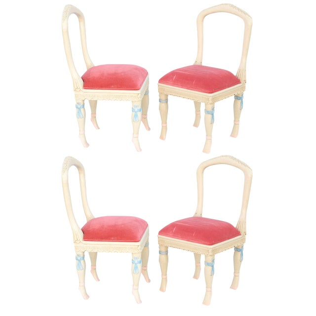 Set of Four Ballerina Side Chairs For Sale - Image 11 of 11