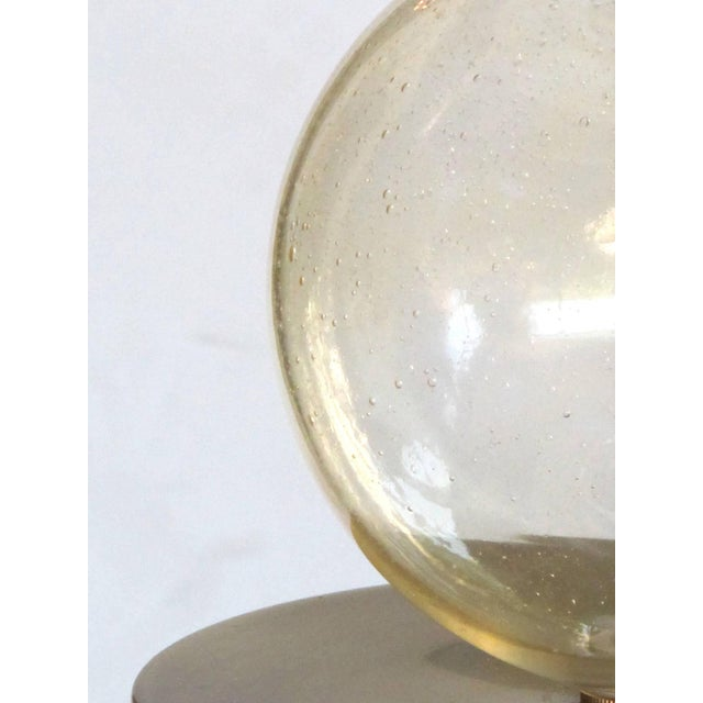 Murano Mid Century Lamp of Stacked Gold Orbs For Sale - Image 4 of 4