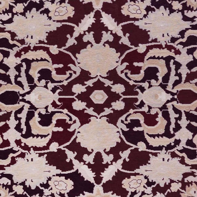 Persian Handwoven Persian Agra Rug For Sale - Image 3 of 8