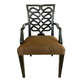 Late 20th Century Kerry Joyce for Dessin Fournir Serpentine Open Armchair For Sale