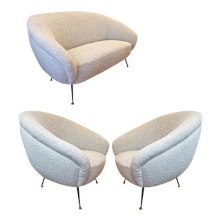 Set of One Couch and Two Chairs attributed to Gio Ponti For Sale