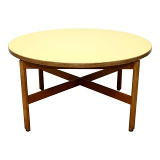 1960s Mid-Century Modern Jens Risom Large RoundKids Circular Crafts or Coffee Table For Sale