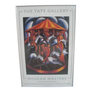 """1985 Tate Gallery """"Modern Masters"""" Exhibition Poster For Sale"""