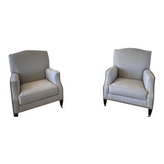 Baker Club Chairs - a Pair For Sale