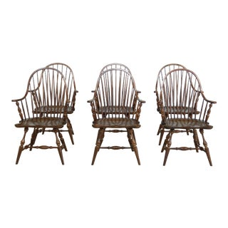 Frederick Duckloe Windsor Arm Chairs - Set of 6 For Sale