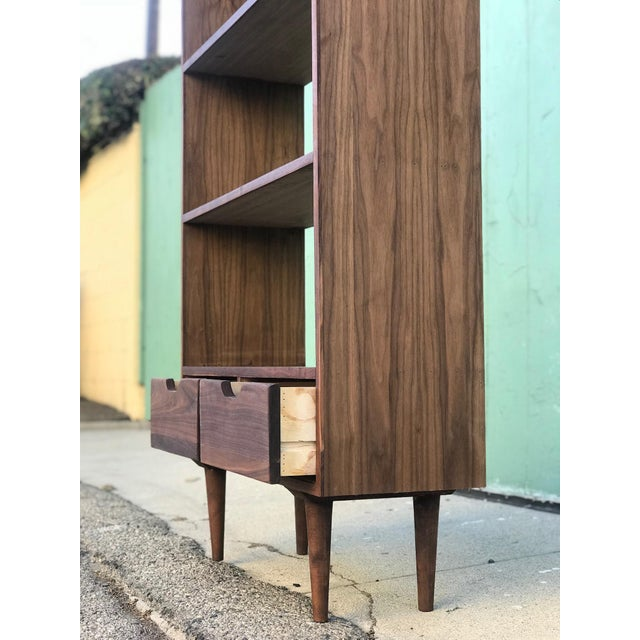 Not Yet Made - Made To Order Custom Mid Century Style Bookcase For Sale - Image 5 of 8