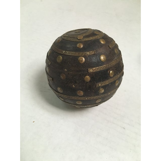 Antique Wood & Metal Bocce Balls - Set of 3 For Sale - Image 5 of 7