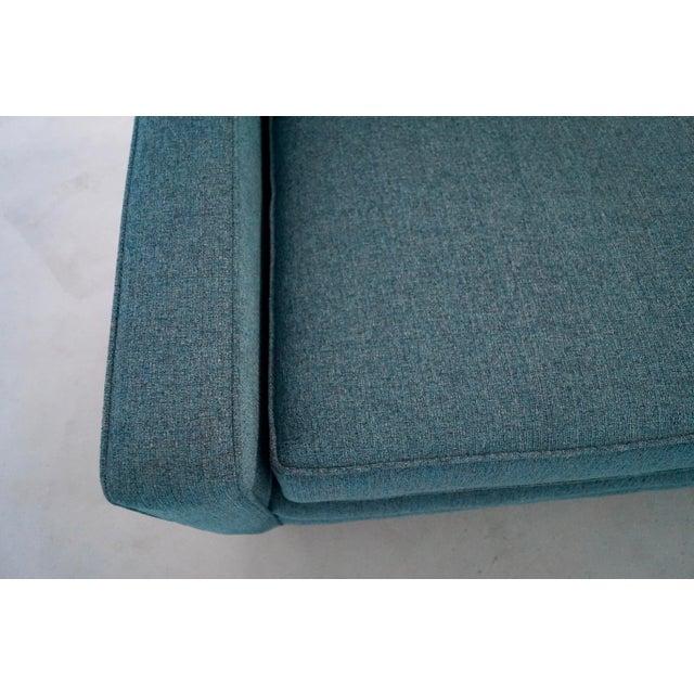 Original Mid-Century Modern Reupholstered Tweed Sofa - Image 9 of 11