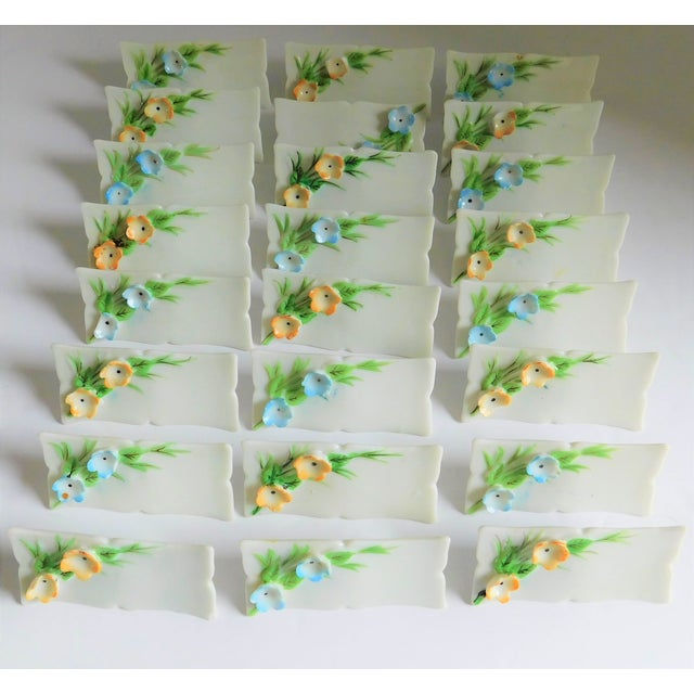 White Porcelain Vintage Place Cards - Set of 24 For Sale - Image 12 of 12