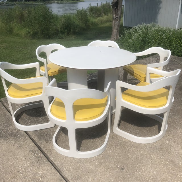 White 1970s Space Age Broyhill Chapter One Dining Set - 7 Pieces For Sale - Image 8 of 8