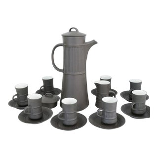 Vintage Dansk Flamestone Coffee Set / Jens Quistgaard - Set of 19 For Sale