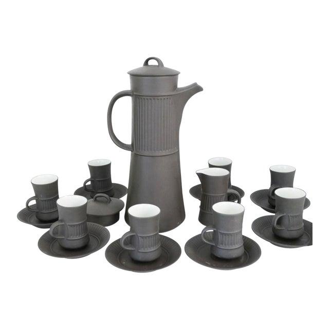 Vintage Dansk Flamestone Coffee Set / Jens Quistgaard - Set of 19 For Sale