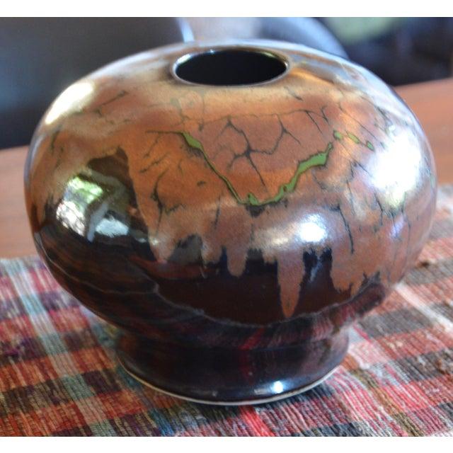 1970s Mid Century Modern Ceramic Pot For Sale - Image 5 of 12